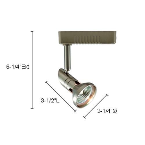 JESCO Lighting LLV12050SC Mini Deco Series Low Voltage Track Light, Satin Chrome