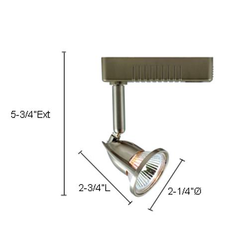 JESCO Lighting LLV12350SC Mini Deco Series Low Voltage Track Light, Satin Chrome