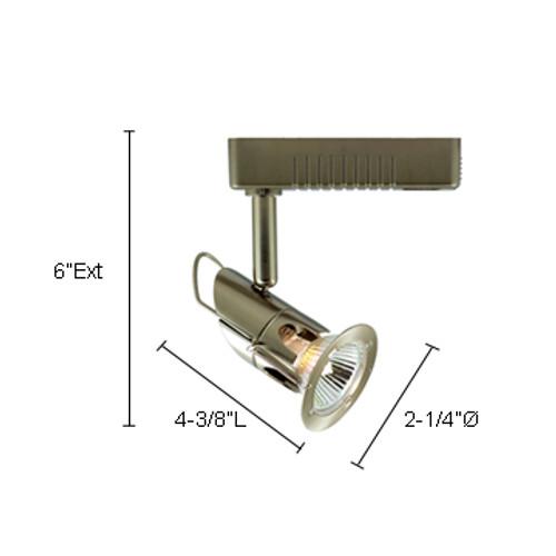 JESCO Lighting LLV12750SC Mini Deco Series Low Voltage Track Light, Satin Chrome