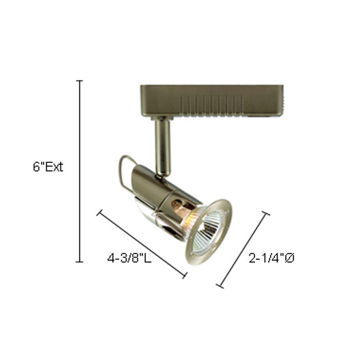 JESCO Lighting JLV12750SC Mini Deco Series Low Voltage Track Light, Satin Chrome