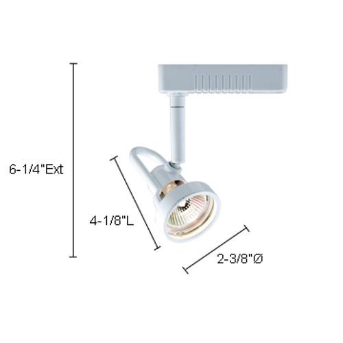 JESCO Lighting HLV14350SC Mini Deco Series Low Voltage Track Light, Satin Chrome