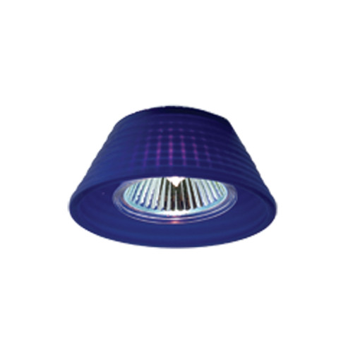 JESCO Lighting LLV14750BU/SC Mini Deco Series Low Voltage Track Light, Blue / Satin Chrome
