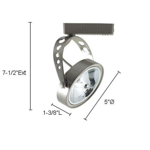 JESCO Lighting HLV15150SC Mini Deco Series Low Voltage Track Light, Satin Chrome