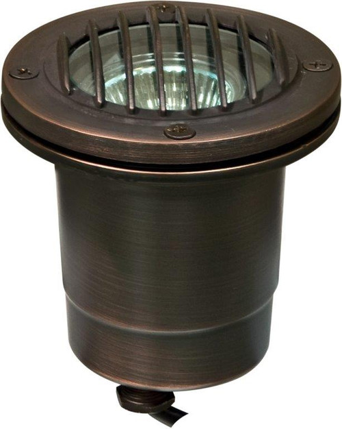 DABMAR LIGHTING LV24-WBS Solid Brass In-Ground Well Light with Grill, Weathered Brass
