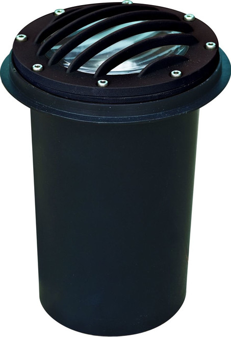 DABMAR LIGHTING DW4701-B Cast Aluminum In-Ground Well Light with Grill and PVC Sleeve, Black
