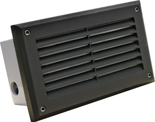 DABMAR LIGHTING DSL1000-B Recessed Louvered Brick/Step/Wall Light, Black