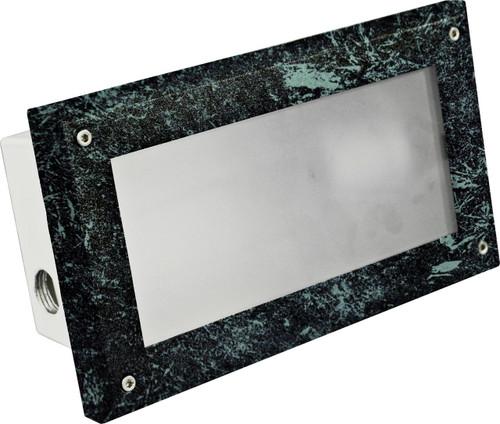DABMAR LIGHTING DSL1001-VG Recessed Open Face Brick/Step/Wall Light, Verde Green