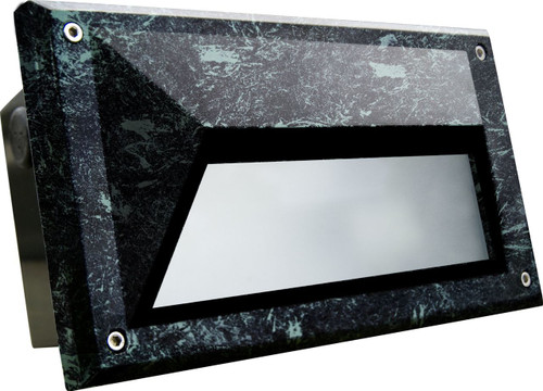 DABMAR LIGHTING DSL1002-VG Recessed Hooded Brick/Step/Wall Light, Verde Green