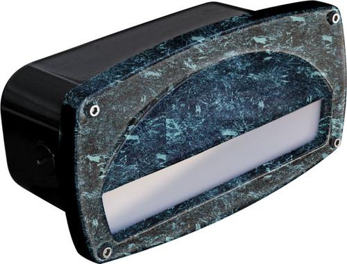 DABMAR LIGHTING DSL1014-VG Recessed Hooded Brick/Step/Wall Light, Verde Green