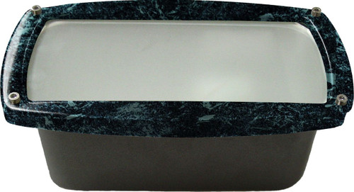 DABMAR LIGHTING DSL1016-VG Recessed Open Face Brick/Step/Wall Light, Verde Green
