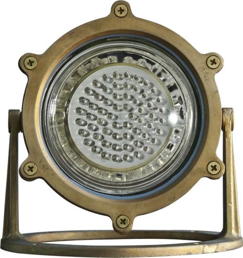 DABMAR LIGHTING LV-LED308-BS Solid Brass LED Pond/Fountain Underwater Light, Brass