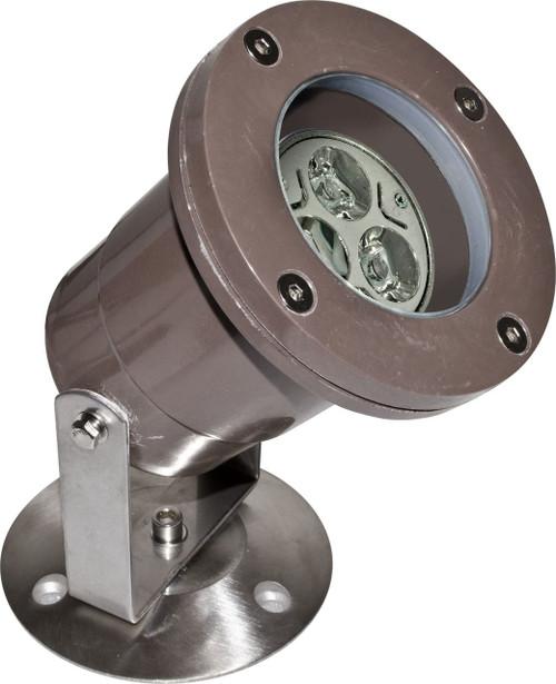 DABMAR LIGHTING FG-LED313 Fiberglass LED Pond/Fountain Underwater Light with Stainless Steel Base, Bronze Fiberglass