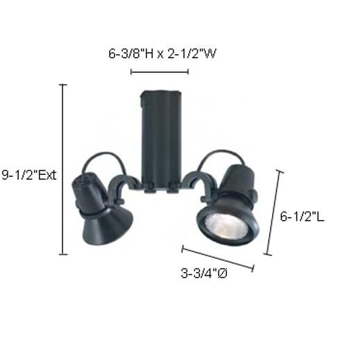 JESCO Lighting HHV914P20-S ConTempo Series Line Voltage Track Light, Silver