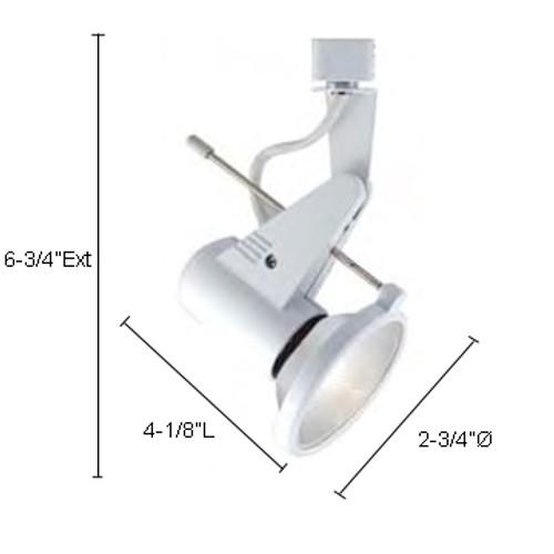 JESCO Lighting HHV330SC Mini Deco Series Line Voltage Track Light, Satin Chrome