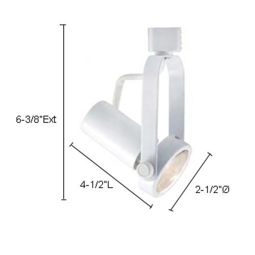 JESCO Lighting LHV220SC Classic Series Line Voltage Track Light, Satin Chrome