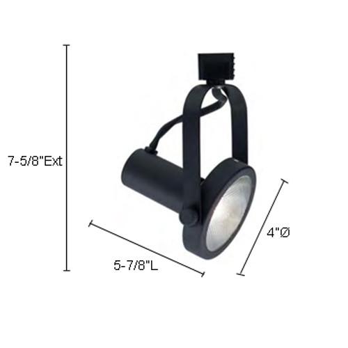 JESCO Lighting LHV230BK Classic Series Line Voltage Track Light, Black