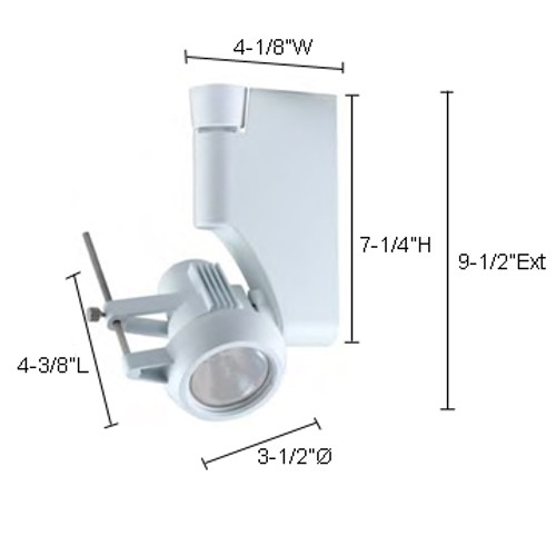 JESCO Lighting HMH270P2039-W ConTempo Series Metal Halide Track Light, White