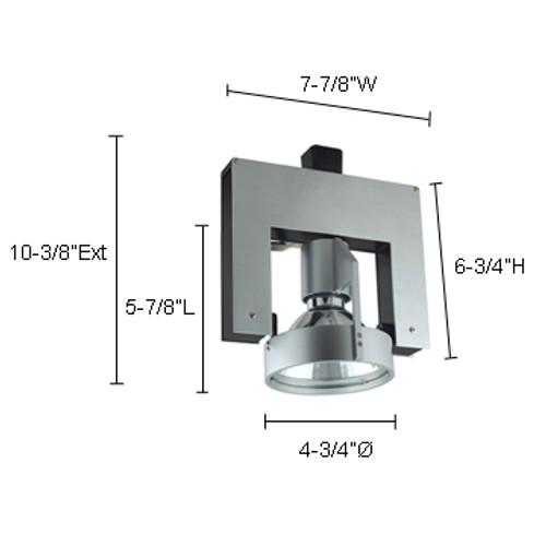 JESCO Lighting HMH702T4NF39A ConTempo Series Metal Halide Track Light, Aluminum