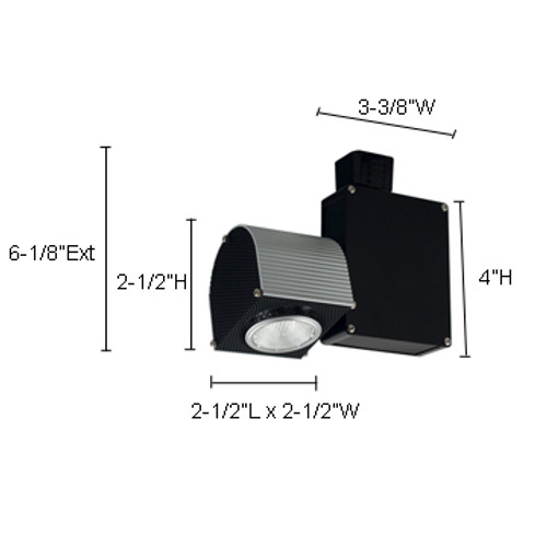 JESCO Lighting HMH703ES1620B ConTempo Series Metal Halide Track Light, Black