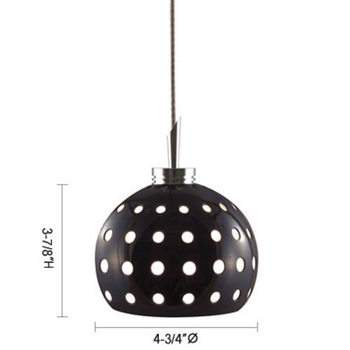 JESCO Lighting QAP101-WH/SN DOTTY Low Voltage Quick Adapt Pendant