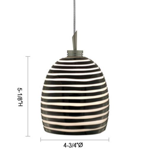 JESCO Lighting QAP104-BWSN ZEB Low Voltage Quick Adapt Pendant