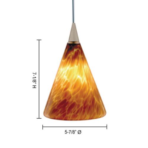 JESCO Lighting QAP107-WH/SN ELLIS Low Voltage Quick Adapt Pendant