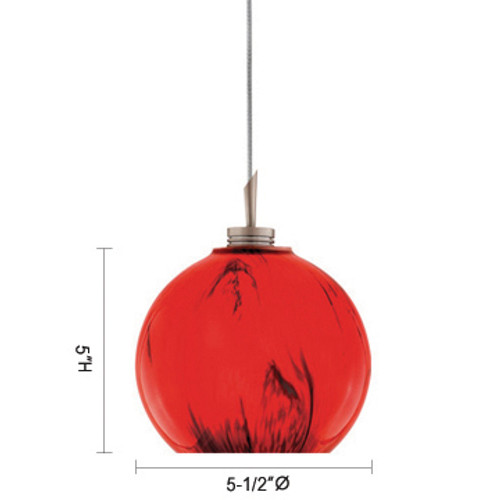 JESCO Lighting QAP108-MG/CH EARL Low Voltage Quick Adapt Pendant