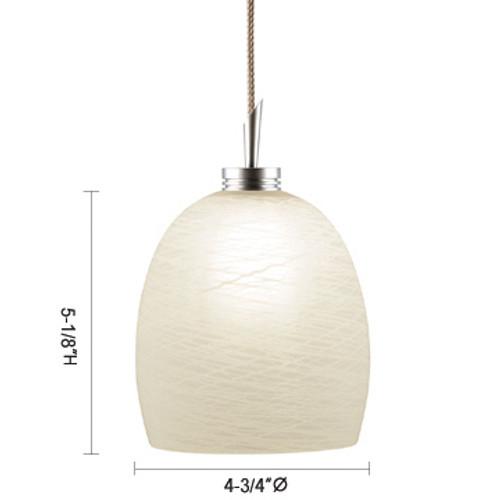 JESCO Lighting QAP113-WH/SN DALLAS Low Voltage Quick Adapt Pendant