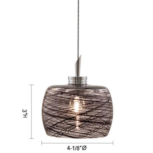 JESCO Lighting QAP114-BK/SN AIDAN Low Voltage Quick Adapt Pendant