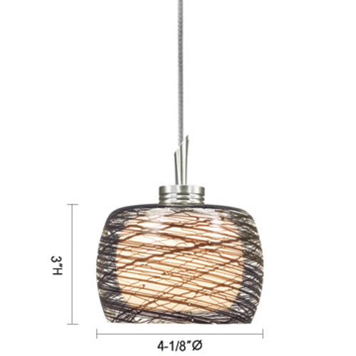 JESCO Lighting QAP115-BKFR/SN ALLY Low Voltage Quick Adapt Pendant