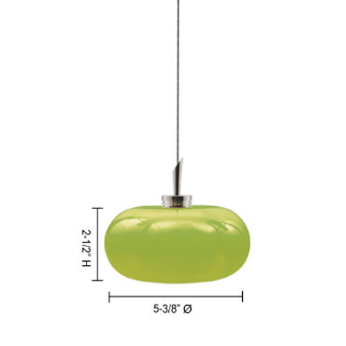 JESCO Lighting QAP118-OM/SN JOLLY Low Voltage Quick Adapt Pendant
