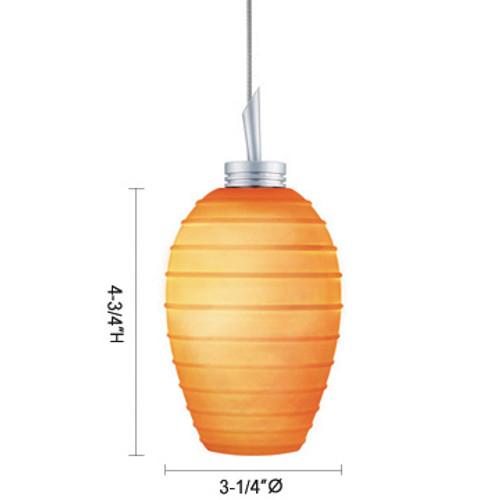 JESCO Lighting QAP120-OM/SN CHELSEA Low Voltage Quick Adapt Pendant