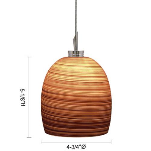 JESCO Lighting QAP126-WH/SN FARIS Low Voltage Quick Adapt Pendant