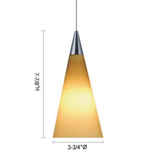 JESCO Lighting QAP210-BU/SN VERN Low Voltage Quick Adapt Pendant