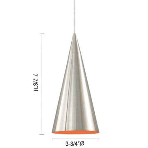 JESCO Lighting QAP211-SNOR VANCE Low Voltage Quick Adapt Pendant