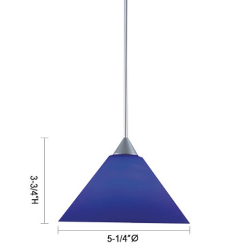 JESCO Lighting QAP214-RD/CH SELMA Low Voltage Quick Adapt Pendant