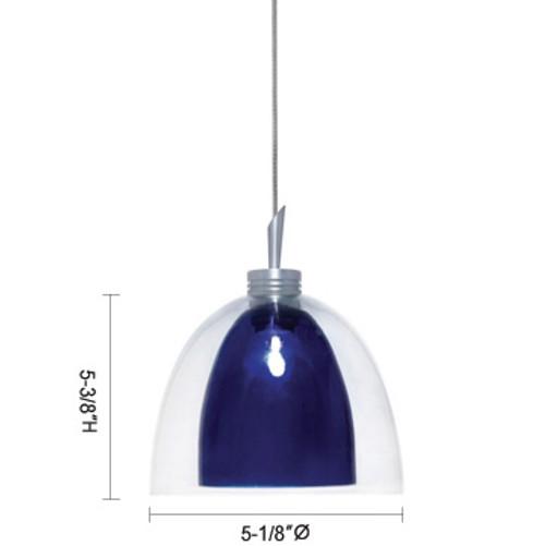 JESCO Lighting QAP215-BU/CH Lina Low Voltage Quick Adapt Pendant