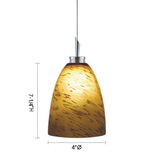 JESCO Lighting QAP220-AR/SN Goblet Low Voltage Quick Adapt Pendant