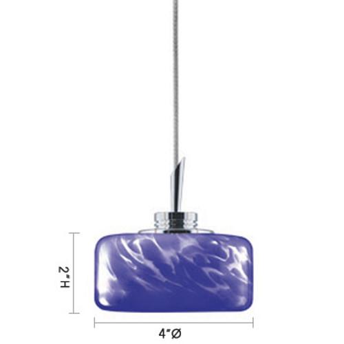 JESCO Lighting QAP229-BF/CH ELAINE Low Voltage Quick Adapt Pendant