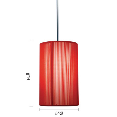 JESCO Lighting QAP231-RD/CH ZEN Low Voltage Quick Adapt Pendant