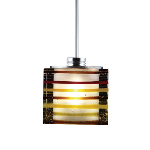 JESCO Lighting QAP701-AM/SN ORFEO Collection Low Voltage Quick Adapt Pendant