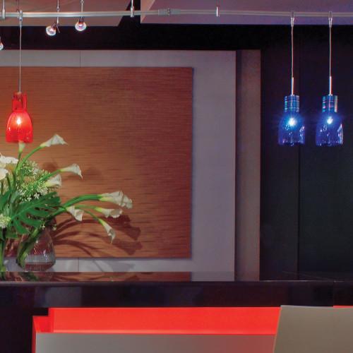 JESCO Lighting QAP708-BK/SN ORFEO Collection Low Voltage Quick Adapt Pendant