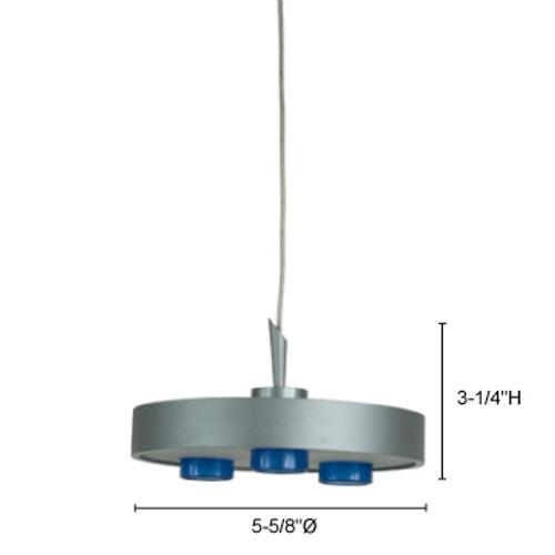 JESCO Lighting QAPL303-30SN AZUL LED Pendant, 3000K