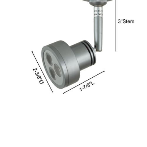 JESCO Lighting QASL193X3-30SN CASSEY Quick Adapt LED Spot, 3000K