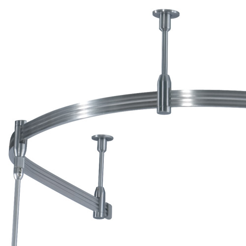 "JESCO Lighting MA-S24SN Monorail Rigid Standoff suspends Rail 24"" below ceiling, Satin Nickel"