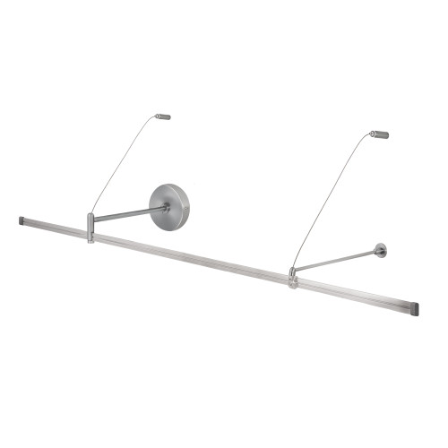 JESCO Lighting MA-WMPF06SN Wall Monorail Power Feed. For use with remote transformer, Satin Nickel