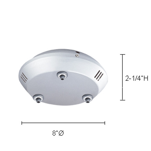 JESCO Lighting QAC-3CSN Ceiling Mono & Multipoints (transformer included), Satin Nickel