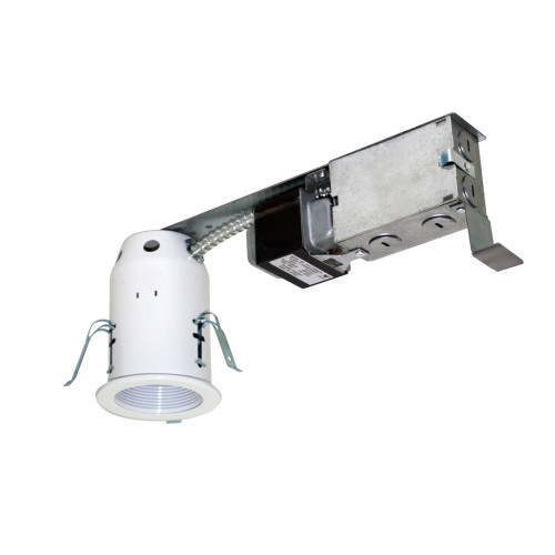 """JESCO Lighting LV3001R 3"""" Low Voltage Non-IC Housing for Remodel, Silver"""