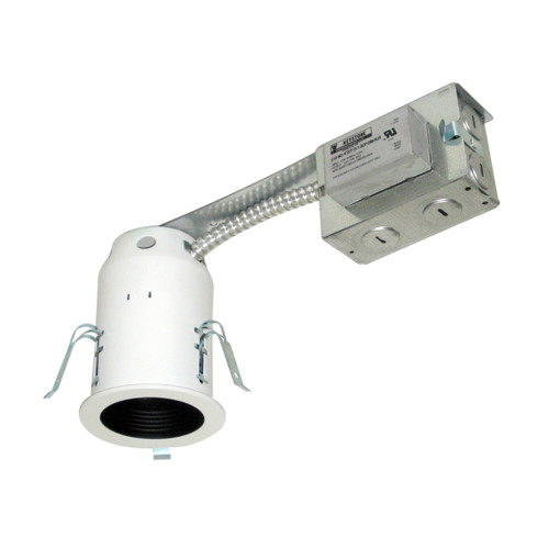 """JESCO Lighting LV3001R-E 3"""" Low Voltage Non-IC Housing for Remodel, Silver"""