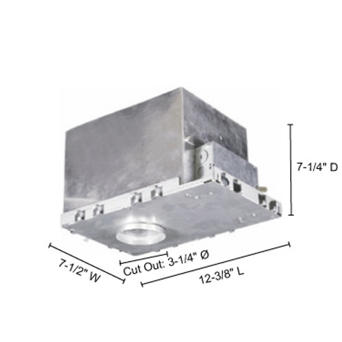 """JESCO Lighting RS3000ICA 3"""" Line Voltage Air Tight IC Housing for New Construction"""